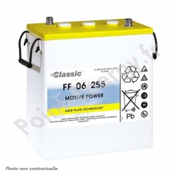 Batterie traction Exide FF06-255 6V 255Ah