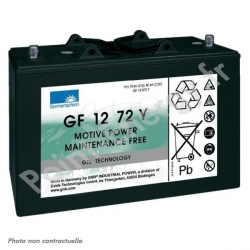 Batterie traction Exide GF12072V 12V 72Ah