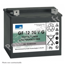 Batterie traction Exide GF12025 Y G6 12V 25Ah