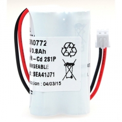Batteries éclairage de secours 2.4V 800mAh Ni-Cd