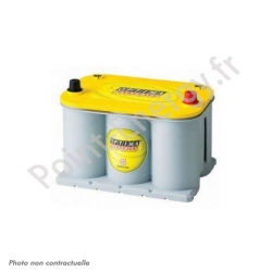 Batterie Optima Jaune 12V 48Ah 660A +D