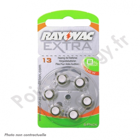 Piles auditives Rayovac V13AE 1.4V Blister de 6 piles