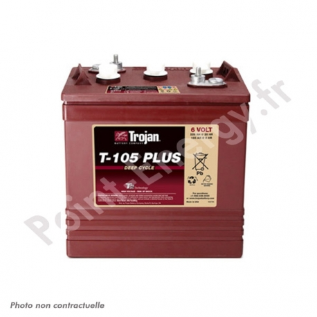 Batterie traction Trojan T105PLUS 6V 185Ah
